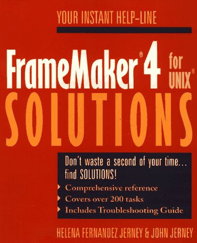 FrameMaker(r) 4 for UNIX(r) Solutions