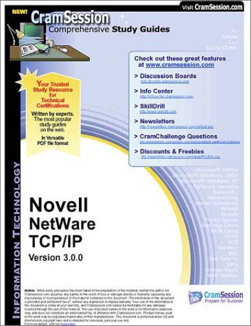 CramSession's Novell NetWare TCP/IP : Certification Study Guide