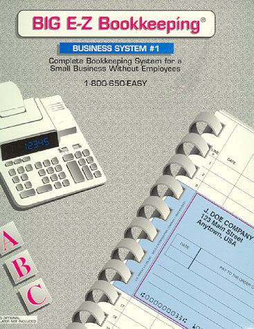 BIG E-Z Bookkeeping - Business System #1 without Payroll  (New & Improved Version)