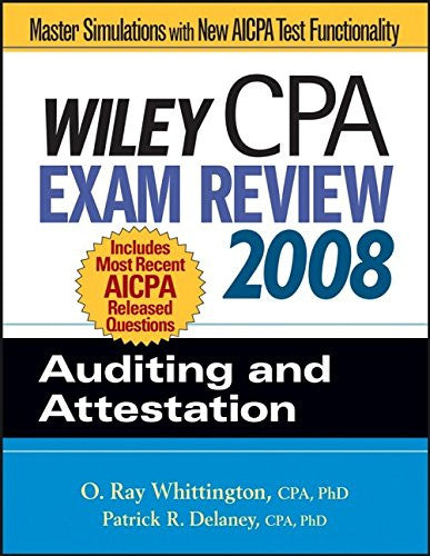 Wiley CPA Exam Review 2008: Auditing and Attestation (Wiley CPA Examination Review: Auditing & Attestation)