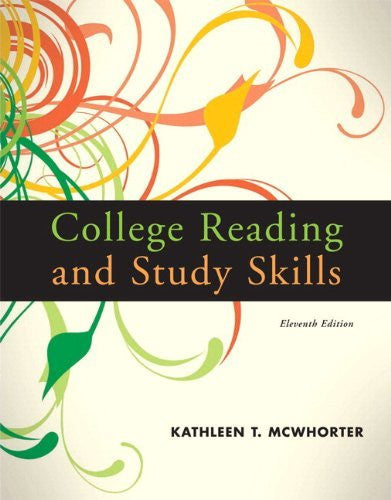 By Kathleen T. McWhorter - College Reading and Study Skills (with MyReadingLab Student Access Code Card): 11th (eleventh) Edition