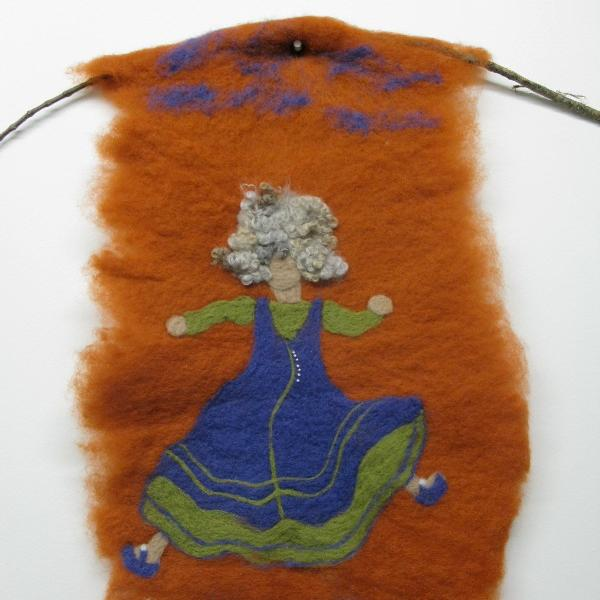 11.17.18 Joyous Dancer Felted Wall Hanging with Kathleen Gerdes