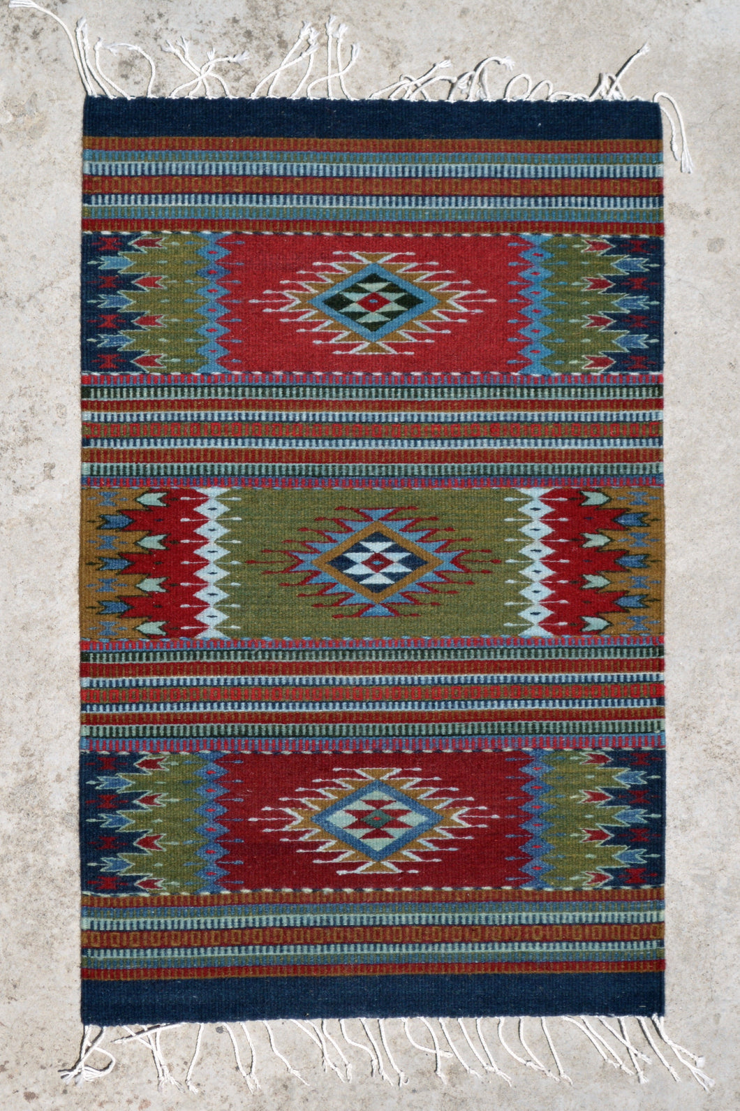 Three Diamonds Handwoven Rug