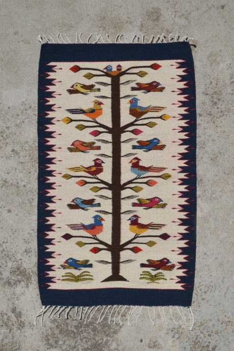 Candle Tree of Life Handwoven Rug