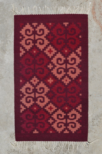 Cochineal Snail Handwoven Rug