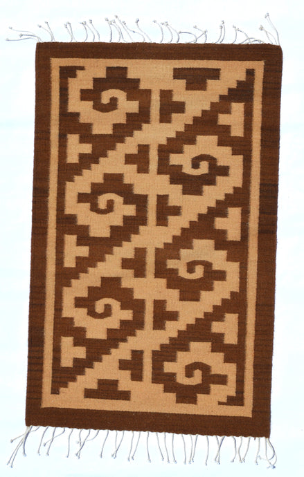 Olas in Brown Handwoven Rug