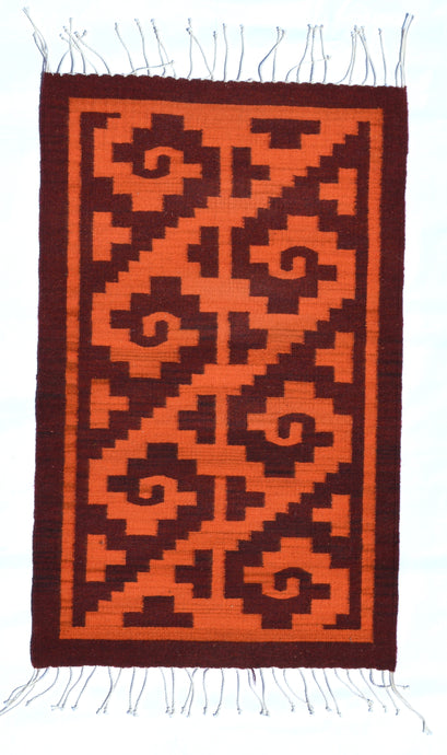Olas in Red Handwoven Rug
