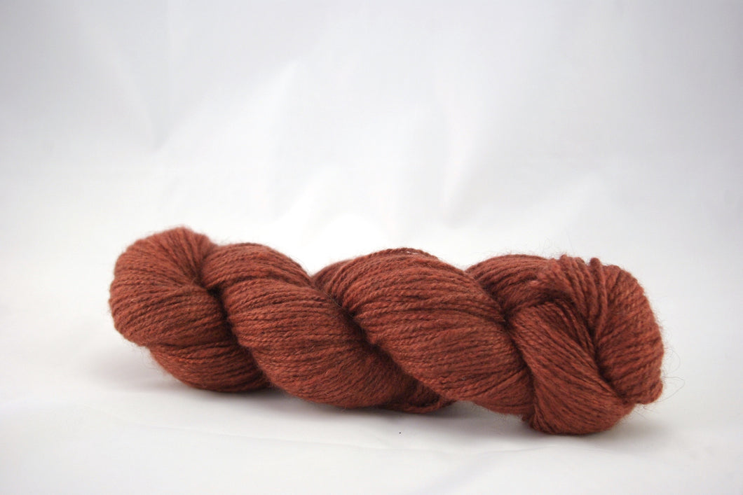 Brick Cashgora Fingering Yarn
