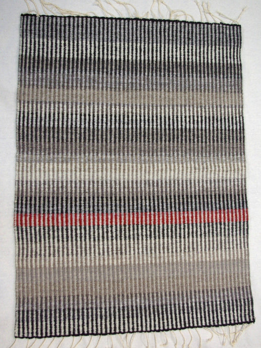 Cooper Designs Black & White & Red Handwoven Rug