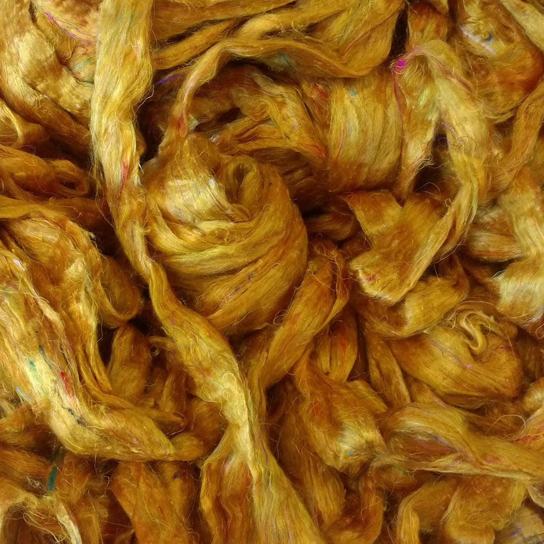 Golden Sari Silk Roving