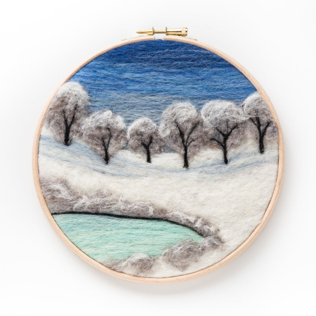 Winter Snow Felted Sky Kit
