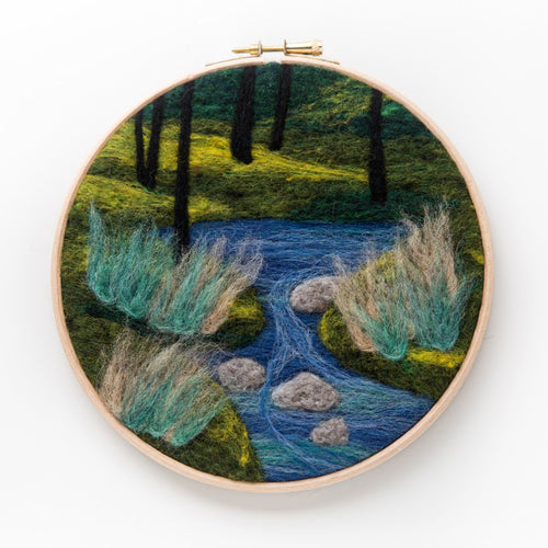 Woodland Stream Felted Sky Kit