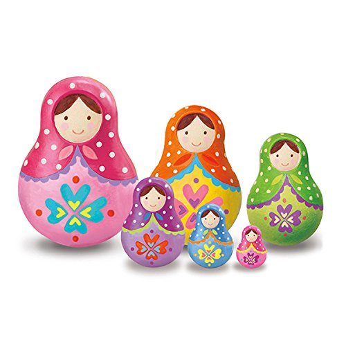 4M Paint Your Own Trinket Box Russian Doll Kit