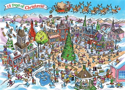 DoodleTown: 12 Days of Christmas - 1000 piece