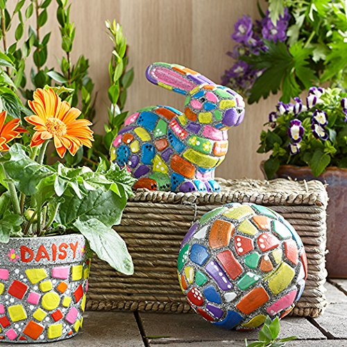Paint Your Own Stone: Mosaic Garden Orb