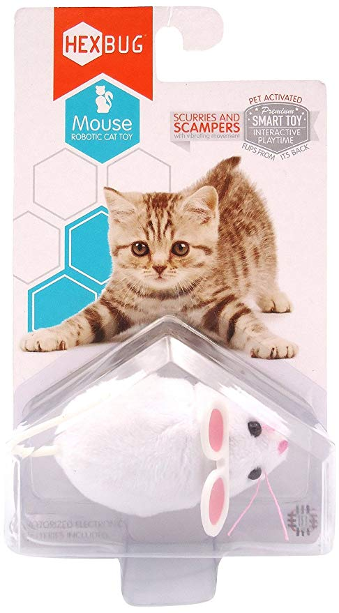 HEXBUG Mouse Robotic Cat Toy (WHITE)