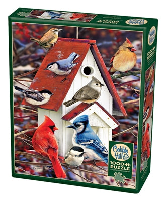 Winter Birdhouse - 1000 piece