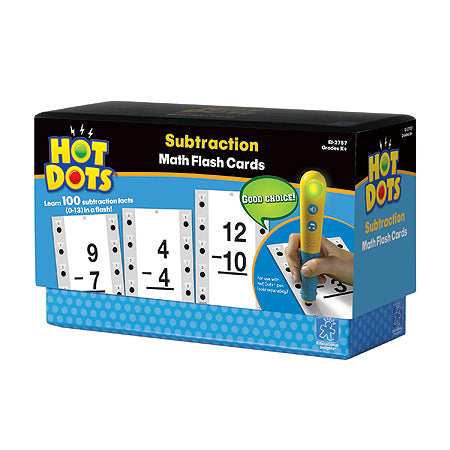 Hot Dots® Flash Cards, Subtraction Facts 0-13