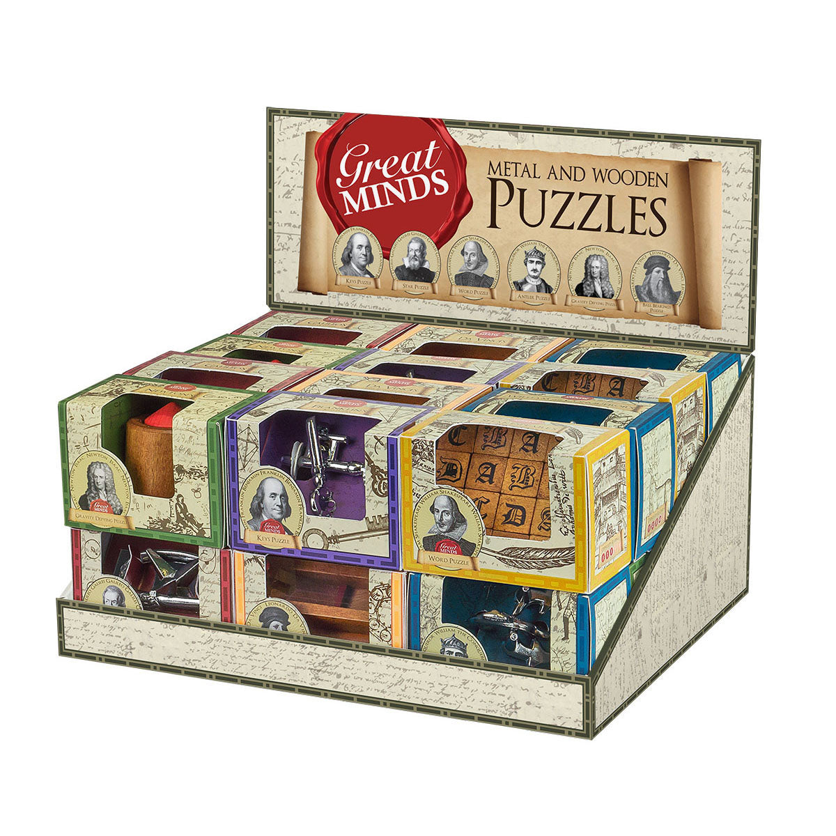 Great Minds Metal and Wooden Puzzles