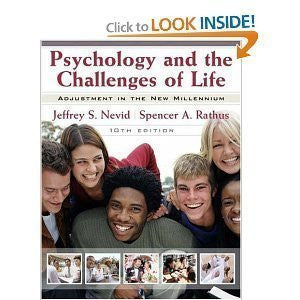 Psychology and the Challenges of Life: WITH Student Study Guide: Adjustment in the New Millennium