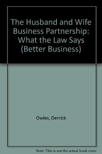 The husband and wife business partnership (Better Business Series Ifac Proceedings)