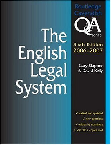 English Legal System Q&A 2006-2007 (Questions and Answers)