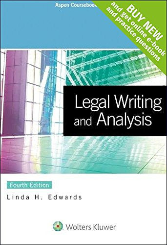 Legal Writing and Analysis [Connected Casebook] (Aspen Coursebook)