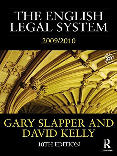 The English Legal System: 2009-2010 (Volume 2)