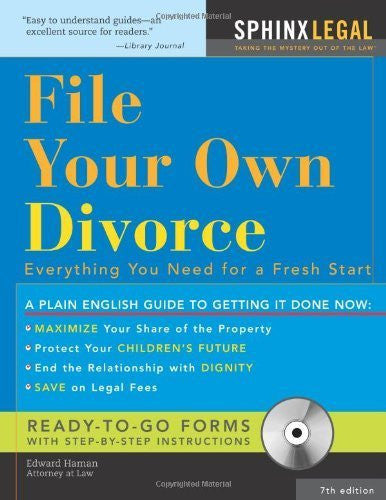 File Your Own Divorce: Everything You Need for a Fresh Start (Legal Survival Guides) by Haman, Edward (2007) Paperback