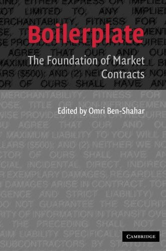 Boilerplate: The Foundation of Market Contracts