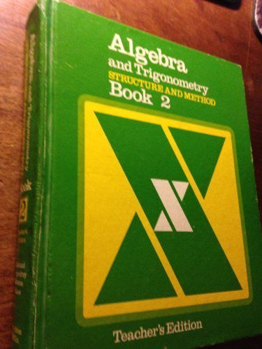Algebra and Trigonometry, Structure and Method (Structure and Method, Book 2)