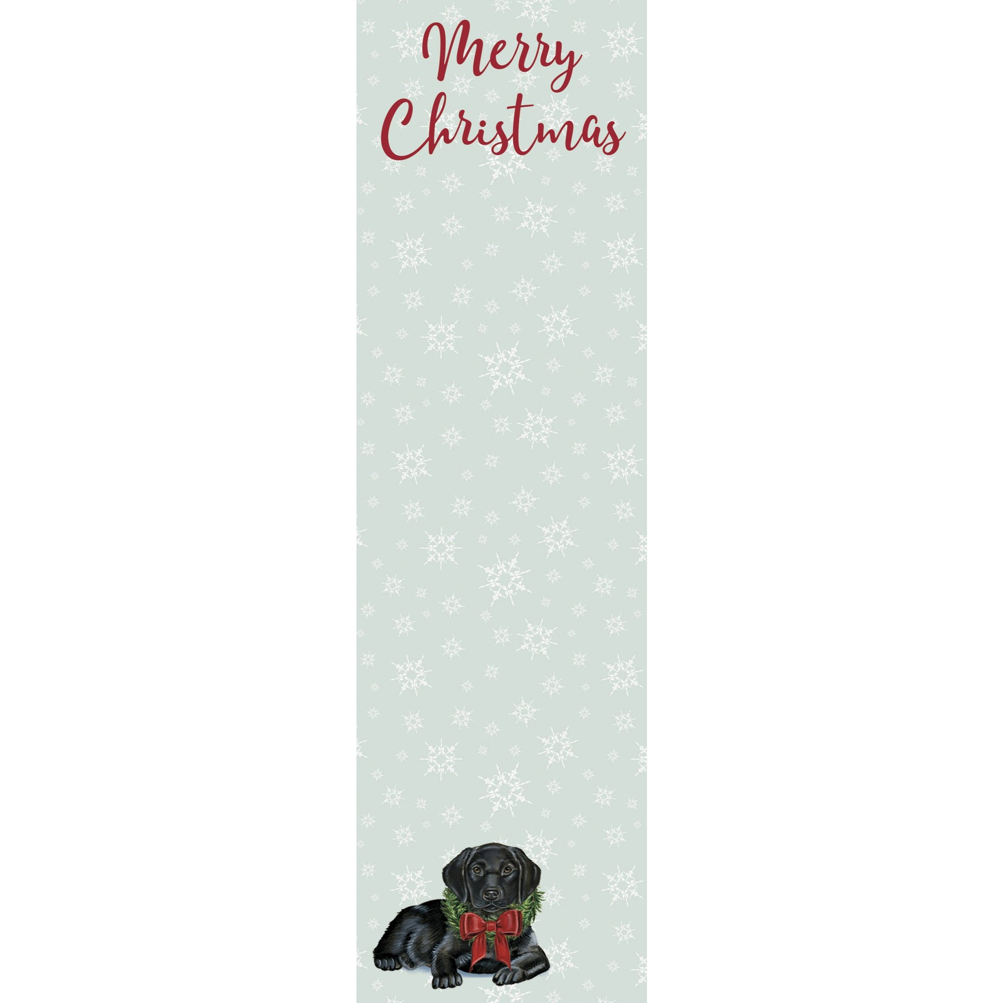Primitives by Kathy - Holiday List Notepad, Black Lab