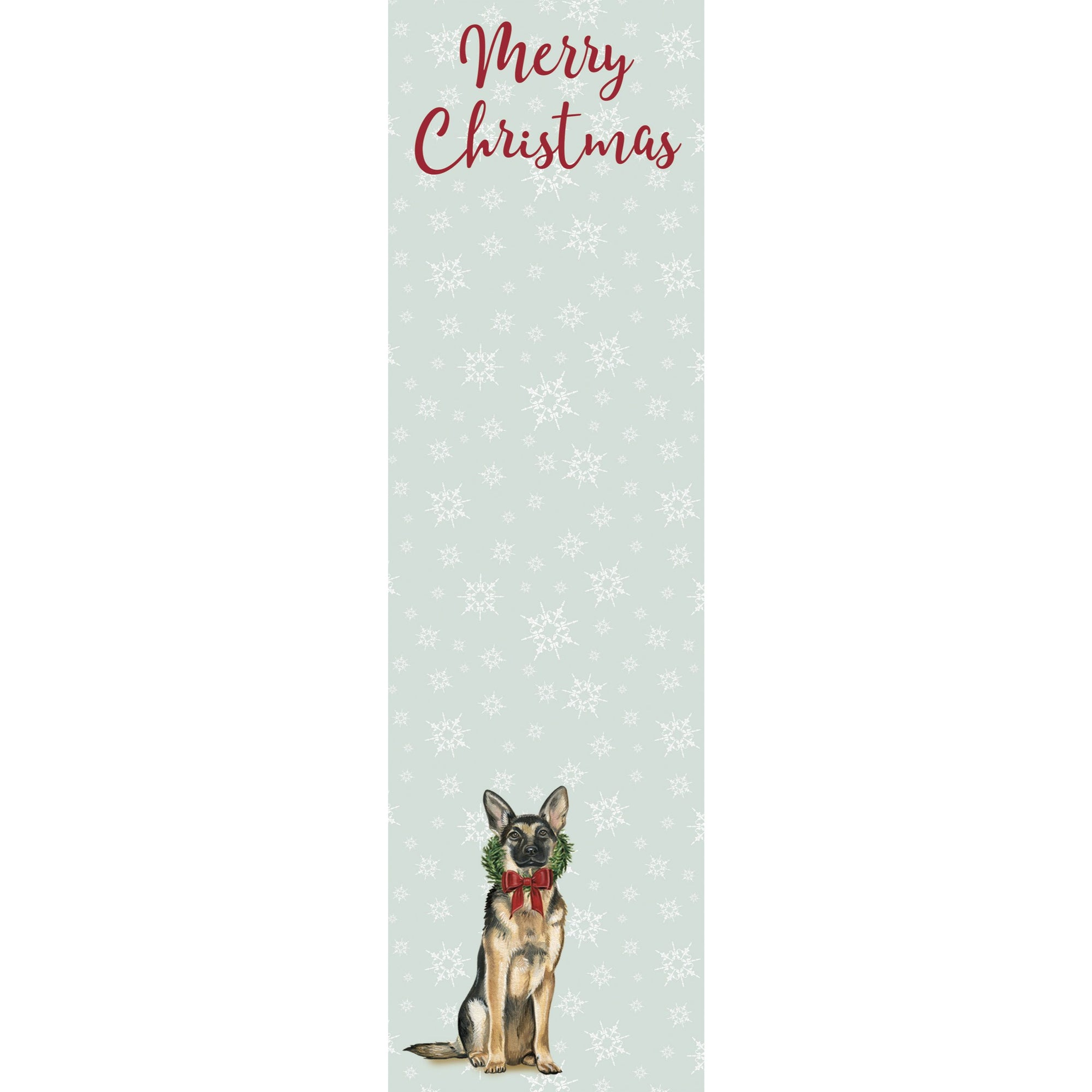 Primitives by Kathy - Holiday List Notepad, German Shepherd