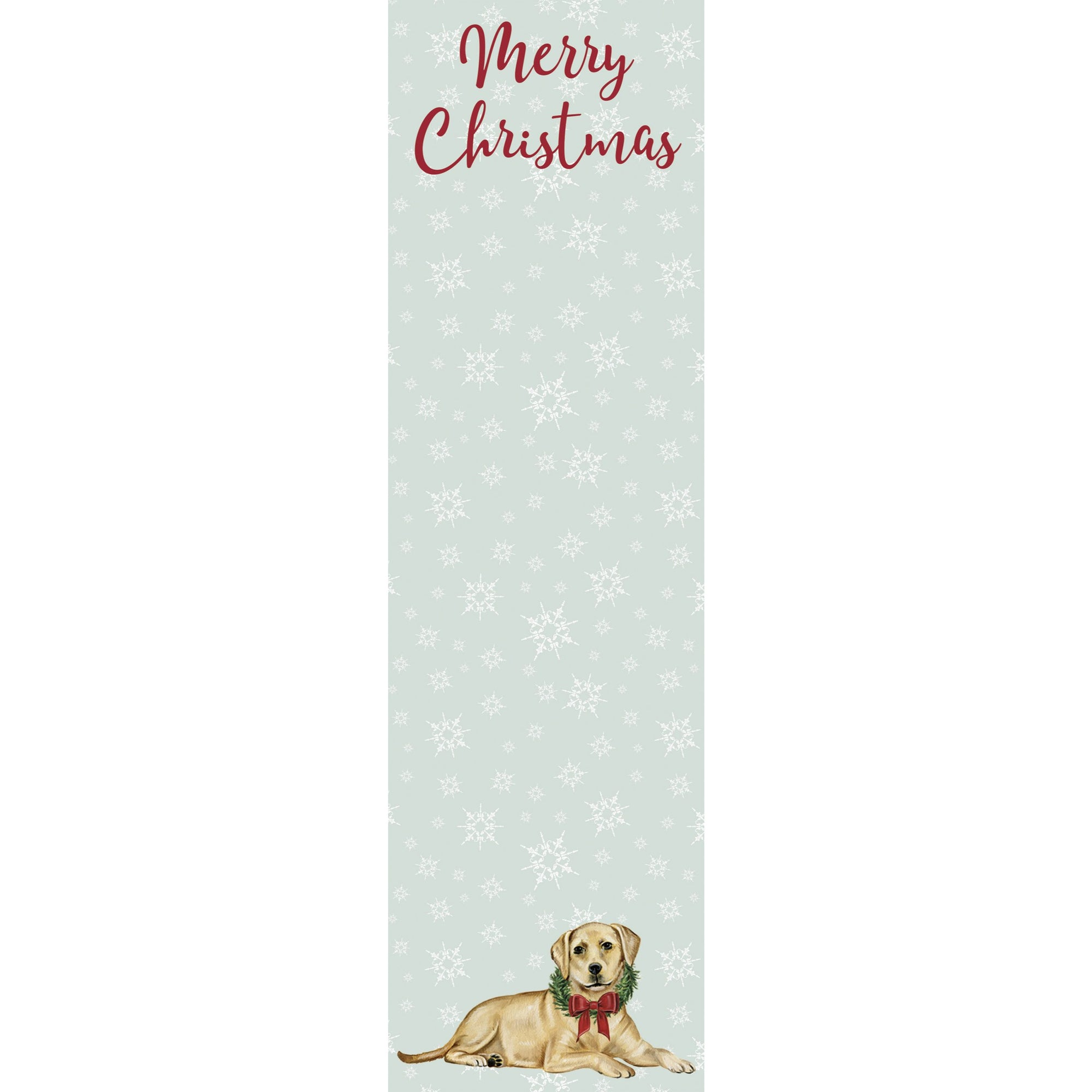Primitives by Kathy - Holiday List Notepad, Yellow Lab