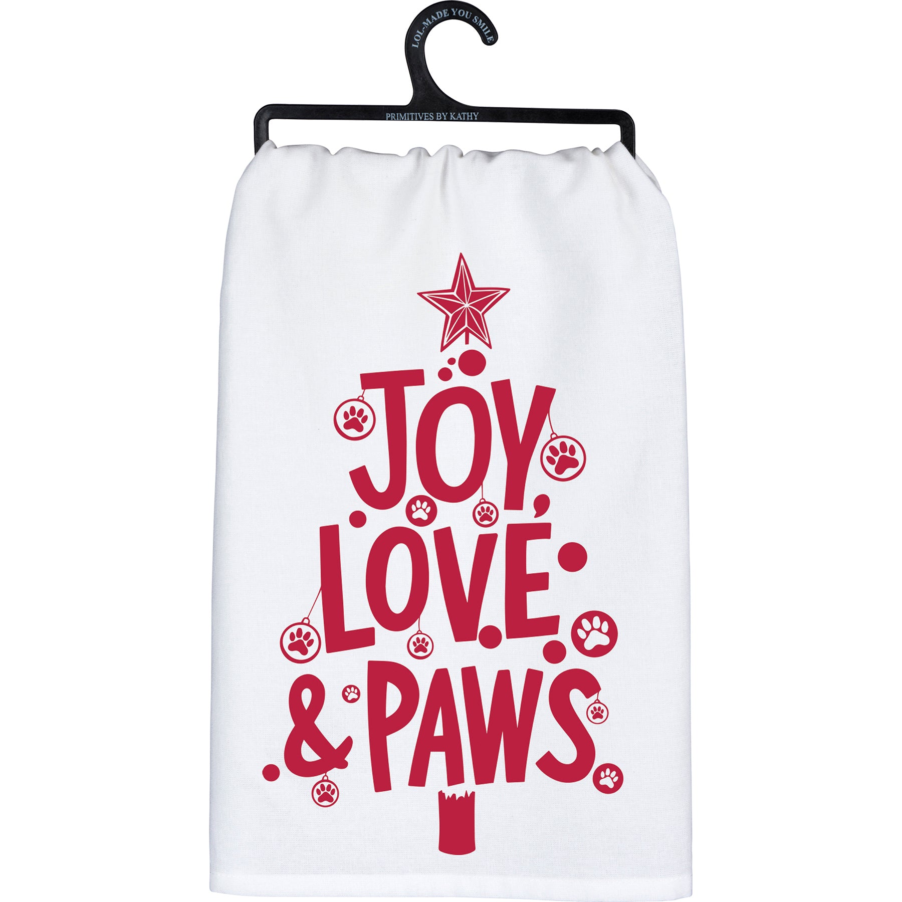 Primitives by Kathy - Dish Towel, Joy Love & Paws
