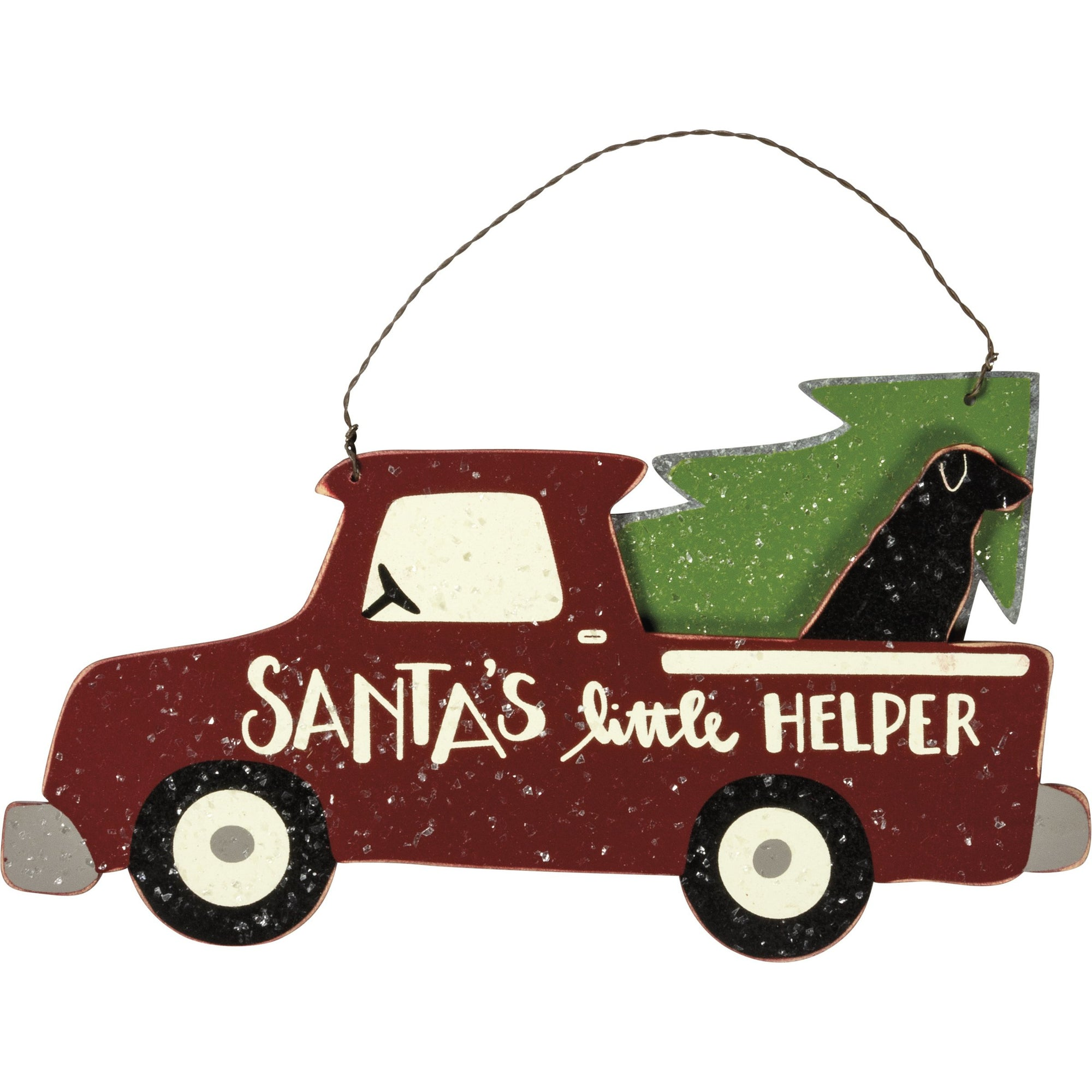 Primitives by Kathy - Hanging Decor, Santa's Helper