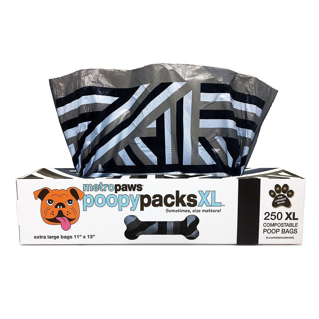 Metro Paws Poopy Packs XL, Black Stripe