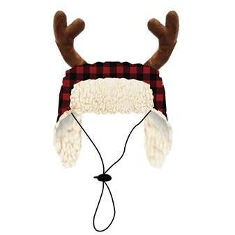 Buffalo Checkered Reindeer Hat