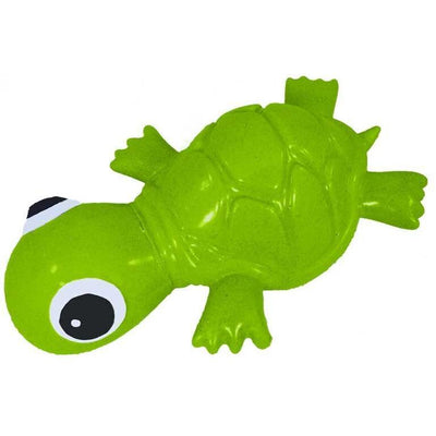Recycled Rubber Turtle Interactive Dog Toy, Mini Green