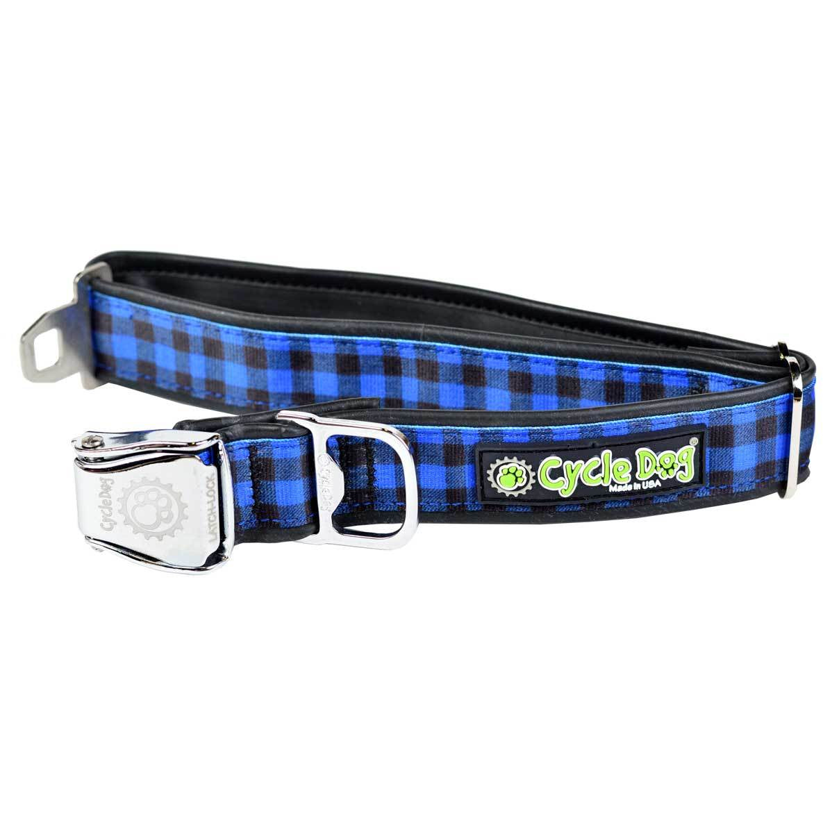 Cycle Dog Blue Plaid Dog Collar