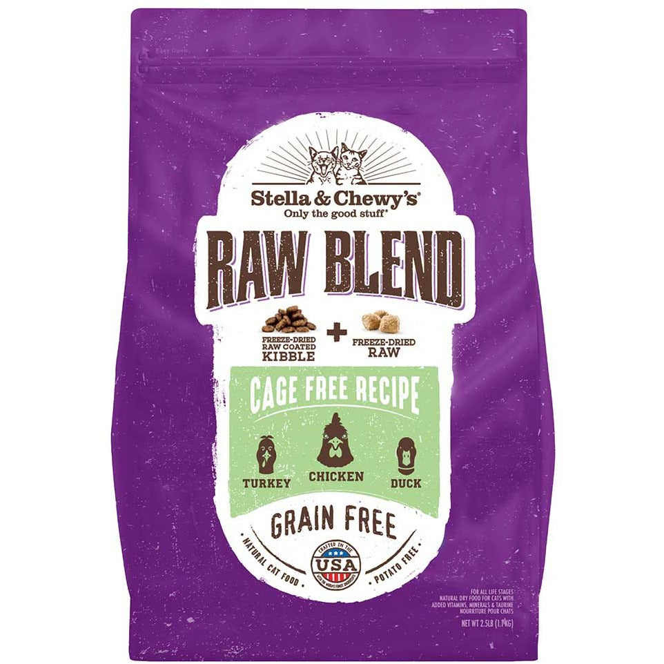 Stella & Chewy's Raw Blend Kibble for Cats - Cage-Free Chicken