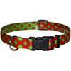 Yellow Dog Design Holiday Christmas Polka Dot Dog Collar