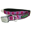 Cycle Dog Fuchsia Teal Kaleidoscope Dog Collar