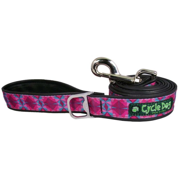 Cycle Dog Fuchsia Teal Kaleidoscope Dog Leash
