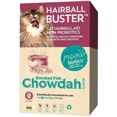 HAIRBALL BUSTER - HAIRBALL AID AND PROBIOTIC POWDER FOR CATS
