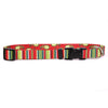 Holiday Stripes Dog Collar by Yellow Dog Design