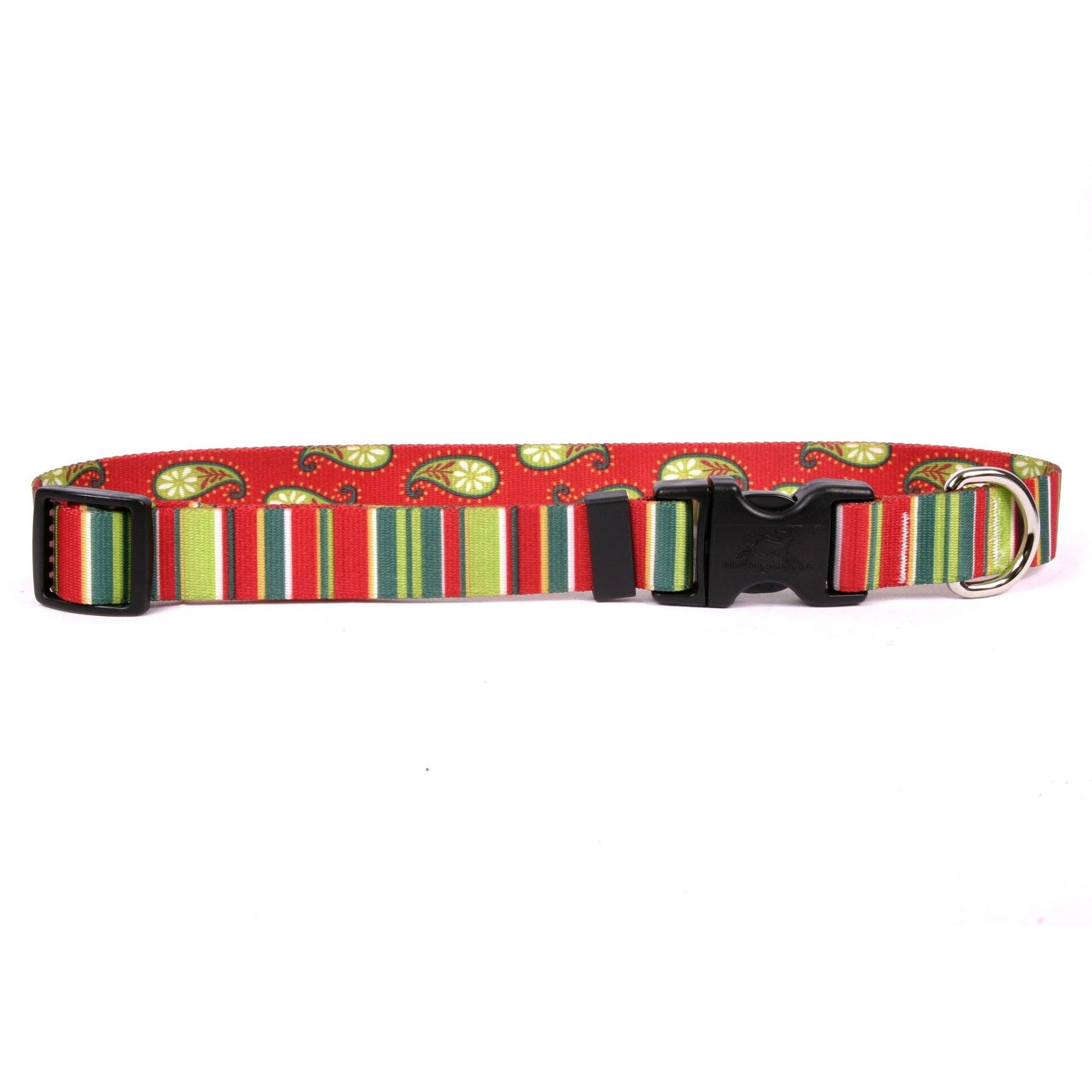 Yellow Dog Design Holiday Stripes Cat Collar