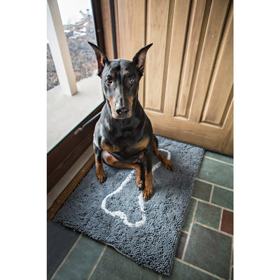 Soggy Doggy Super Absorbent Doormat, Large Grey