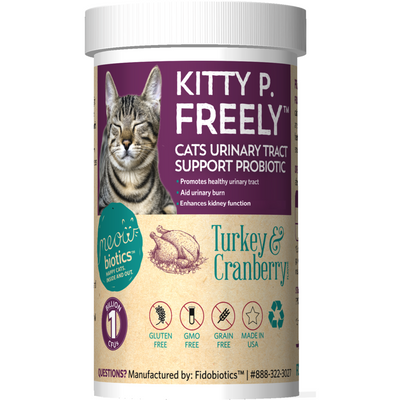 Kitty P. Freely - Urinary Tract Support and Probiotic Powder For Cats