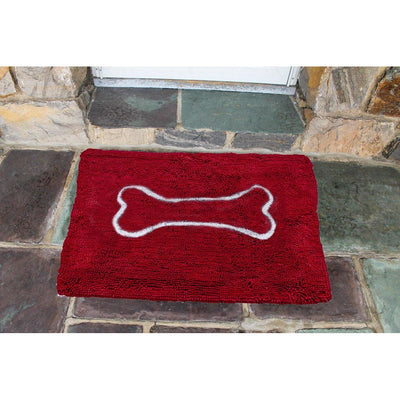 Soggy Doggy Super Absorbent Doormat, Large Cranberry